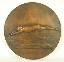 Medaille 18,5 cm plongeon natation swimming diving Schwimmen Tauchen sport medal