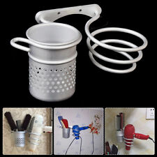 Aluminum New Wall Mounted Bathroom Hair Drier Dryer Rack Storage Holder+Comb Cup