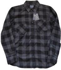 WOOLRICH Grey Checked Buffalo Shirt  Size UK 14 NEW