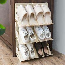 Shoe Rack 2Pcs Multifunctional Stackable Plastic Stand Cabinet Storage Organizer