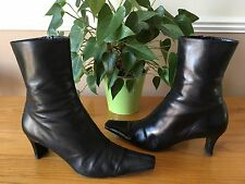 Ladies L.K Bennett Para black all leather mid calf length boots UK 6.5 RRP £149