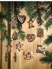 Lebkuchen Terracotta   Anhänger Baumschmuck Weihnachten braun HERZ*STERN*BAUM
