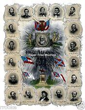 Confederate Heroes Robert E. Lee Jefferson Davis JEB Stuart Civil War Print