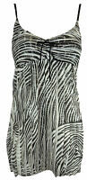 New Womens Ladies Strappy Padded Stripe Frill Glitter Mini Dress Size 8-14 UK