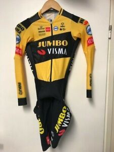 Radsport Rider Issue Time Trail Skinsuit Jumbo Visma From Pascal Eenkhoorn.