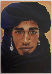 Bejewelled Berber - Limited Edition PRINT of Original Painting Moroccan Nomad