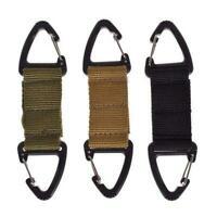 Carabiner Hook Webbing Buckle Nylon Molle Belt Hanging Key Clip Ring 12g Ou N4C3