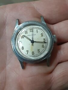 Vintage Longines Military Wrist Watch ? Manual Wind Running !