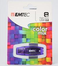3x Emtec ECMMD8GC410 8 GB Color Mix USB-Flash-Laufwerk violett USB Stick