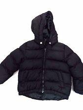 H&M Size 3/4Y Puffy Jacket Black Kids Child Fashion with Detachable Hood Coat
