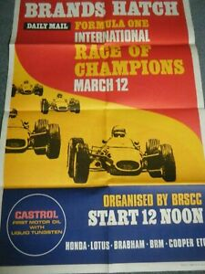 1967 F1 FORMULA ONE POSTER 1967 RACE OF CHAMPIONS DAN GURNEY EAGLE GRAHAM HILL