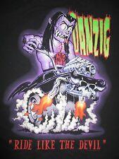 "2013 American Heavy Metal Band Glenn DANZIG ""Ride Like the Devil"" (LG) Shirt"