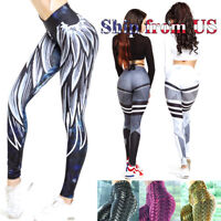 Women's Butt Lift Yoga Pants High Waist Leggings Ruched Workout Booty Trousers
