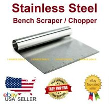 Stainless Steel Bench Scraper / Chopper With Ruler Must Have In Your Kitchen NEW