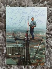 More details for fred dibnah hand signed photo card 1997