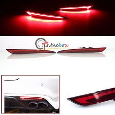 3D Optic LED Rear Bumper Reflector Brake Tail Light For 14~16 Ford Fusion Mondeo