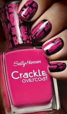 Sally Hansen Crackle Overcoat Nail Polish 04 Fuchsia Shock- New