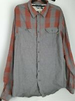Kathmandu Mens Long Sleeve Plaid Grey Shirt Sz 2XL