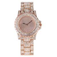 Luxury Rhinestone Watch Women's Quartz Wrist Watch Bling Crystal Steel Strap