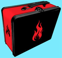 LEGION ICONIC FIRE Storage Tin Lunchbox Game Case MTG Card Deck Box Dice Holder
