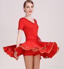 Vestido de baile para Mujer Latino Tango Salón de baile Delgado Mini 2018 Corto Sexy Disfraz Cuadrado