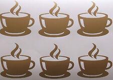 6 xcoffee Cup, Vinilo, azulejo de pared pegatinas, Calcomanía, transferencias Para Cocina Pared Azulejos