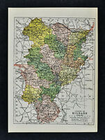 1902 Ireland Map - Kildare County - Athy Ballitore Celbridge Kilcock Kill Naas