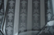 Nr. 2492 Gardinen Stoff Vorhangstoff Dekostoff Barock 295cm hoch in grau