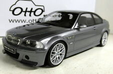 Otto 1/18 Scale OT177 BMW M3 E46 CSL Metallic Grey Resin Model Car