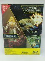 Wing Commander & Ultima VI PC CD-ROM Game Big Box 1994 Origin Systems *See Desc