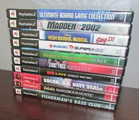 Lot of 10 Sony Playstation 2 PS2 Games All Complete Fast Shipping!