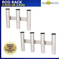 Rod Rack 316 Stainless Steel 3 or 4 HOLDER/ORGANISER-Boat/Fishing/Storage
