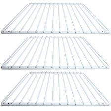 3 X UNIVERSAL Fridge Shelf White Plastic Coated Adjustable Freezer Rack