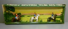 AHI Lead Toy Soldiers American West Cowboys on Horses in Box EXC Japan SAE