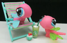 LITTLEST PET SHOP HOT PINK DRAGONFLY SET #1768 RARE #2432 BLIND BAG ACCESSORIES