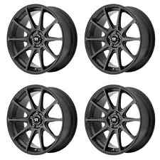 MOTEGI RACING MR127 MR12788056738 18X8 38MM OFFSET 5x112 SATIN BLACK 4-SET RIMS