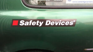 Safety Devices Large Sticker x 1 - Genuine Article