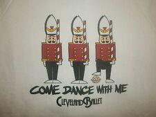 vtg 80s 90s CLEVELAND BALLET NUTCRACKER SWEATSHIRT Christmas Tchaikovsky Dance L