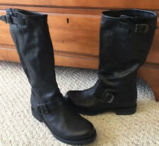 WOMENS FRYE VERONICA TALL BOOTS W/ BUCKLES SIZE 9 EUC!