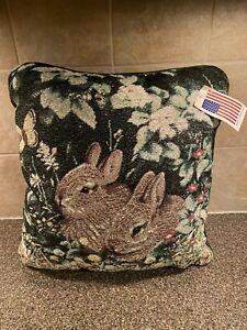 Greg And Company Peek A Boo Needlepoint Bunny Pillow New With Tags Made In USA