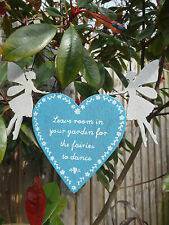 Sass & Belle Leave Room for The Fairies Love Heart Plaque Decoration Fairy Gift