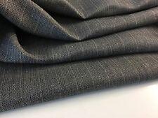 """NEW Designer Grey colour Linen Herringbone Suiting Fabric 60""""153cm Garment Craft"""