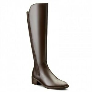 Clarks Knee-High Riding Boots Valana Melrose  Brown Leather UK 5 E E extra wide