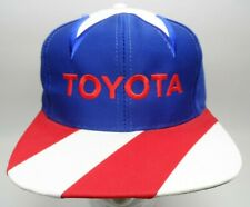 Vintage TOYOTA Kati Supreme Mens Snapback Hat Red Blue and White Star Toyota Cap