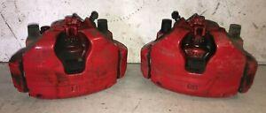Ford Focus Front Brake Calliper & Carrier Brackets Pair ST250 2011-2018 MK3 Red