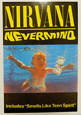 NIRVANA Postcard Nevermind 'Includes Smells Like UK Vintage 1990s #1152