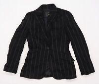 Zara Womens Black Striped  Jacket Blazer Size 8