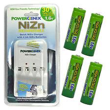 4 NiZn 1.6V 2500mWh AA Rechargeable Battery GENIX + PowerGenix Charger