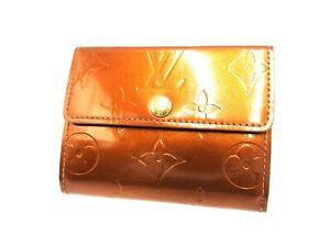 LOUIS VUITTON Ludlow Card Coin Case Purse Vernis Patent Leather Bronze B-4781