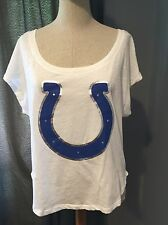 "NEW WITH TAGS PINK BRAND VICTORIA'S SECRET INDIANAPOLIS COLTS ""WIN ME OVER"" TEE"